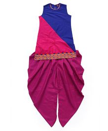 Twisha Kurta With Hem Design & Dhoti Pants - Royal Blue