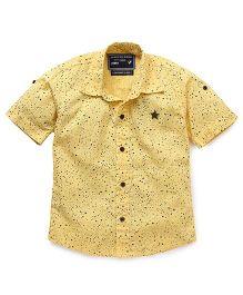 Jash Kids Half Sleeves Shirt Stars Print - Lemon Yellow