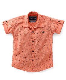 Jash Kids Half Sleeves Shirt Stars Print - Peach