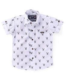 Jash Kids Half Sleeves Printed Shirt - White