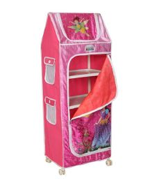 Playhood 5 Shelves Almirah Fairy Print - Pink