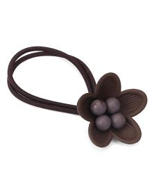 Treasure Trove Flower Pony Tail Holder - Brown