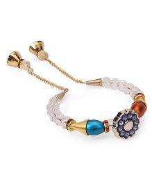Treasure Trove Transparent & Colourful Beads Bracelet - Dark Blue & Multicoloured