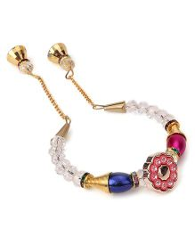 Treasure Trove Transparent & Colourful Beads Bracelet - Dark Pink