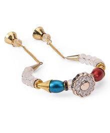 Treasure Trove Transparent & Colourful Beads Bracelet - White & Multicoloured