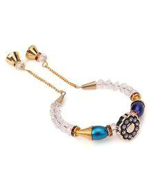 Treasure Trove Transparent & Colourful Beads Bracelet - Blue