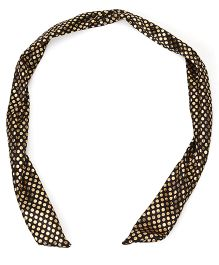 Treasure Trove Shimmer Polka Dot Headband - Black & Golden