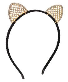 Treasure Trove Stone Studded Kitty Hairband - Gold