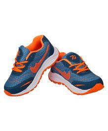 77 Seventy Seven Kids Comfortable Sports Shoes - Blue & Orange