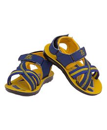 77 Seventy Seven Kids Cross Strap Sandal - Blue & Yellow