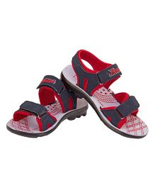 77 Seventy Seven Kids Designed Base Sandal - Blue & Red