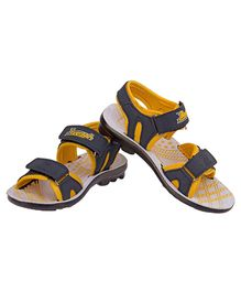 77 Seventy Seven Kids Designed Base Sandal - Blue & Yellow