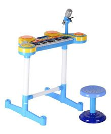Magic Pitara Multi Function Organ, Drums & Stool Play Set - Blue