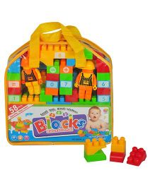 Magic Pitara Educational Blocks Yellow - 58 Pieces