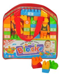 Magic Pitara Educational Blocks Red - 58 Pieces