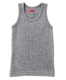 Babyhug Sleeveless Thermal Vest - Light Grey