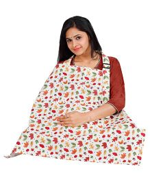 Lulamom Leaf Floral Printed Extra Wide Feeding & Nursing Cover - Multi Color