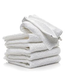 Lula Small Face Towel White - Pack of 5