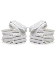 Lula Small Face Towel White - Pack of 10