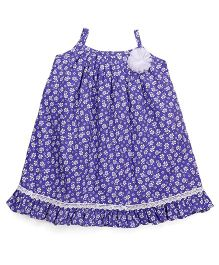 Mom's Girl Pretty Flower Dress - Blue