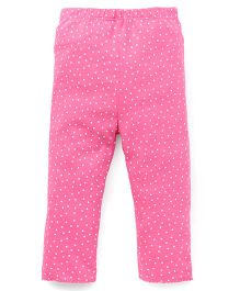 Yiyi Garden Dot Print Leggings - Pink