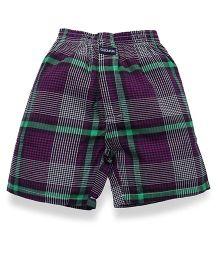 Cucu Fun Check Shorts - Purple Green