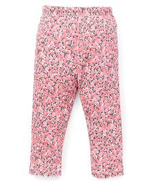 Yiyi Garden Flower Print Leggings - Pink