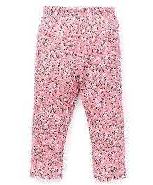 Yiyi Garden Flower Print Leggings - Pink