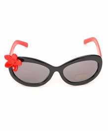 Babyhug Kids Sunglasses With Flower - Black Red