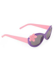 Babyhug Kids Sunglasses With Flower - Purple Pink