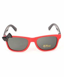 Babyhug Kids Sunglasses With Bow - Red Black