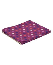 The Baby Atelier Polka Dot Baby Blanket - Purple