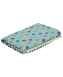The Baby Atelier Polka Dot Baby Blanket - Green