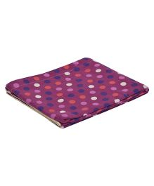 The Baby Atelier Polka Dot Junior Blanket - Purple