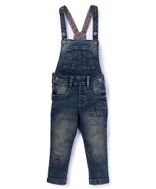 Vitamins Sleeveless Dungarees DX Cloud Wash - Dark Blue