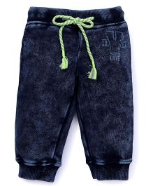 Vitamins Drawstring Jeans - Dark Blue