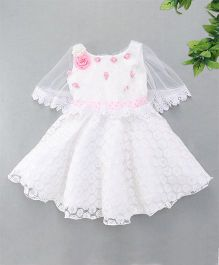 M'Princess Cape Style Party Dress - White
