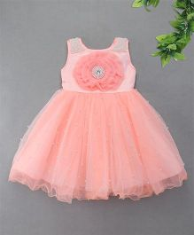 M'Princess Pearl & Rose Party Dress - Peach