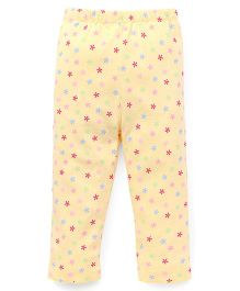 Yiyi Garden Star Print Leggings - Yellow