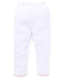 Yiyi Garden Dot Print Leggings - White