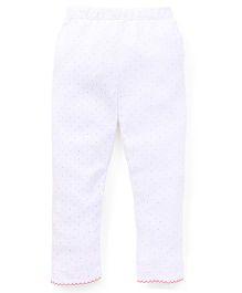 Yiyi Garden Dot Print Leggings - White