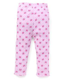Yiyi Garden Rose Print Leggings - Pink