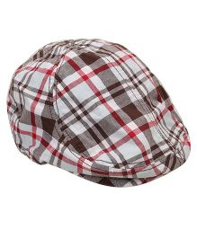 Little Wonder Checkered Print Cap - Multicolour