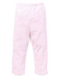 Yiyi Garden Animal Print Leggings - White & Pink