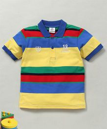 Water Melon Trendy Polo Neck Tee - Yellow & Blue