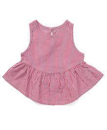 YiYi Garden Stripe Print Dress - Pink & White