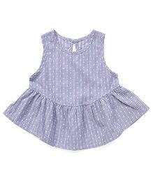 YiYi Garden Dot Print Dress - Light Blue