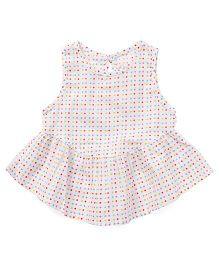 YiYi Garden Multicolour Dot Print Dress - White