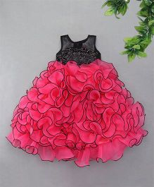 M'Princess Sequin Layered Party Gown - Pink