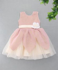 M'Princess Flower Applique Fit N Flare Dress - Pink